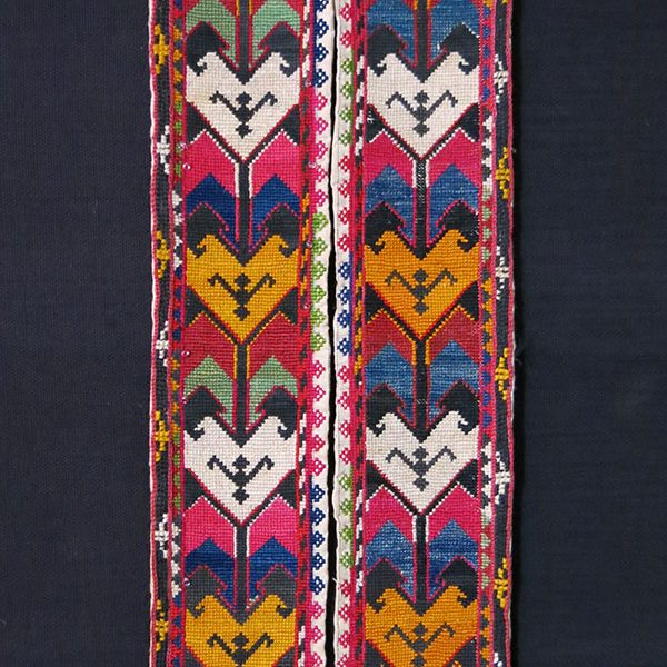 UZBEKISTAN – LAKAI tribal silk embroidered pair of belts