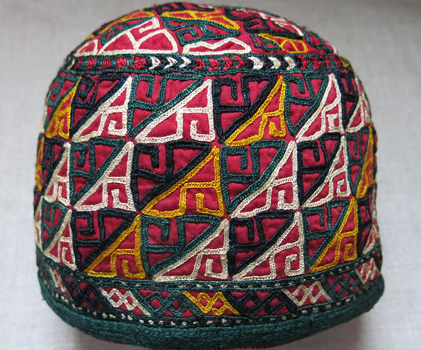 CENTRAL ASIA – TURKMENISTAN – CHODOR Turkmen tribal ceremonial HAT
