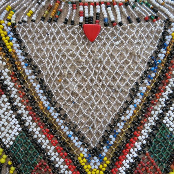 TURKEMEN tribal beaded choker necklace
