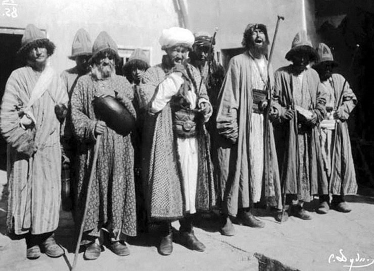 Old group photo of dervishes