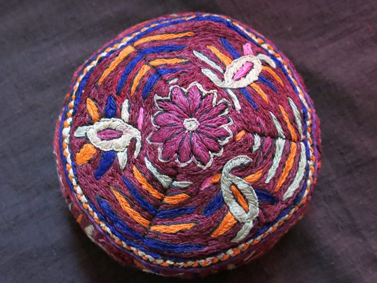 AZERBAIJAN - SHAHSAVAN tribal silk embroidery hat