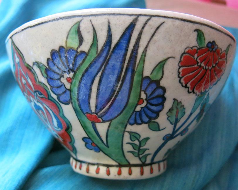 TURKEY ANATOLIAN – KUTAHYA quartz ceramic bowl