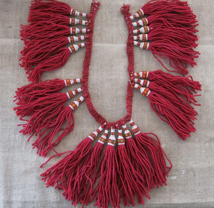 BOSNIA and HERZEGOVINA HAND knitted WOOL DERVISH TASSELS