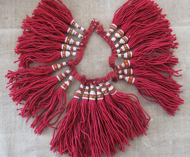 ALBENIA HAND knitted WOOL DERVISH TASSELS