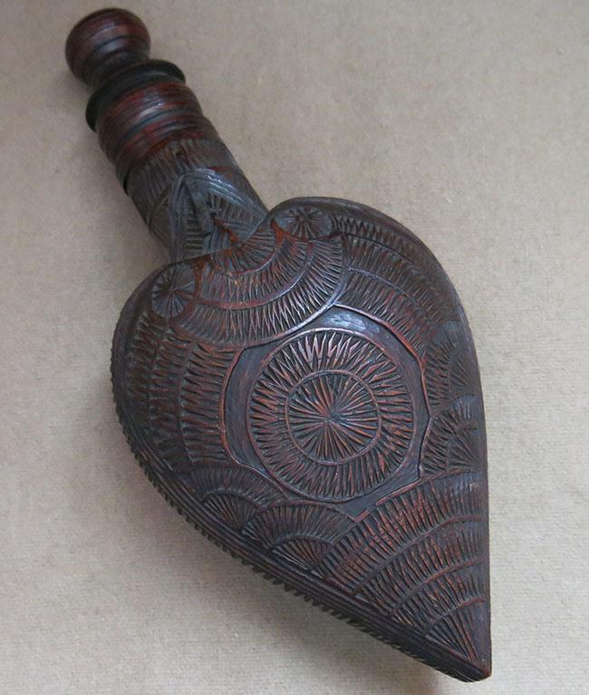 BLACK SEA - TRABZON Hand carved gun powder holder
