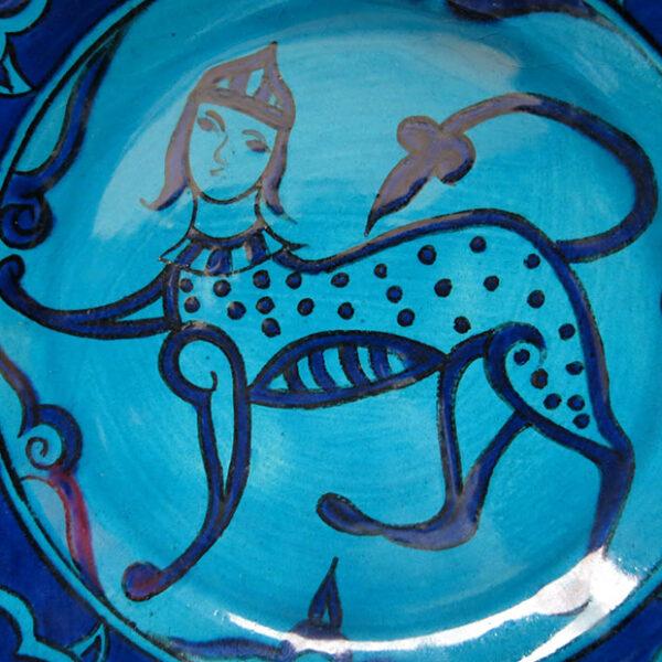 TURKEY - KUTAHYA – SITKI OLCAR ceramic Seljuk design plate