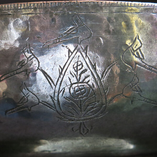 AZERBAIJAN antique hand forged copper bowl