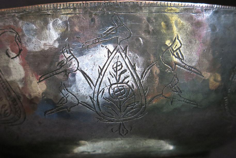 AZERBAIJAN antique hand forged copper bowl