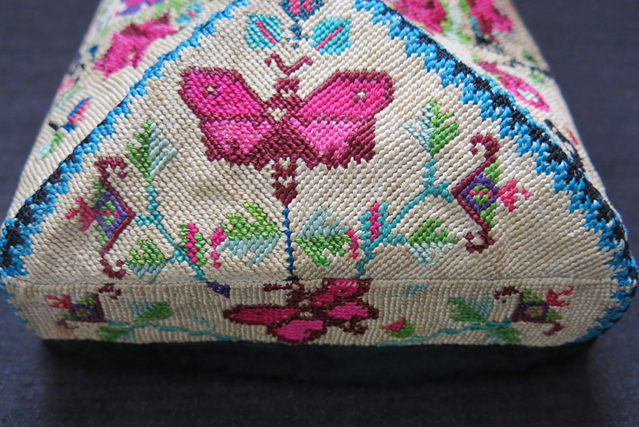 UZBEKISTAN – FARGANA VALLEY ethnic silk cross stitch embroidery HAT