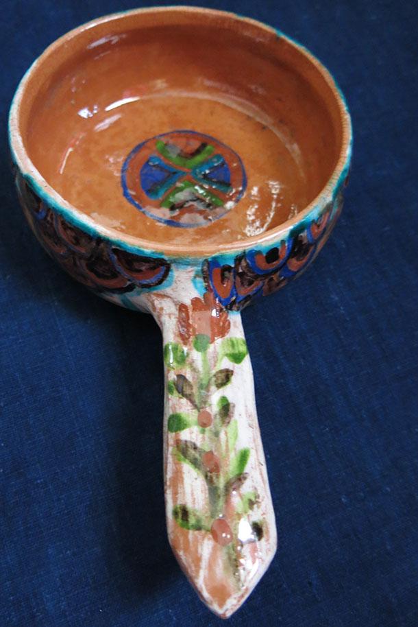 GALLIPOLI / TROY – Canakkale ceramic glazed coffee seeds cooling tray