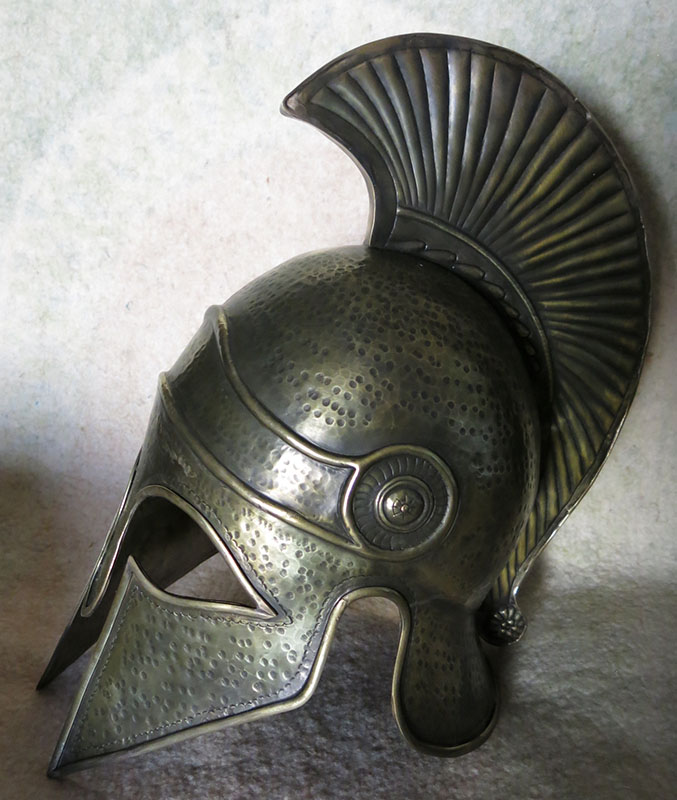 TURKEY - ISTANBUL CONSTANTINOPLE Hand forged and hammered SPARTAN Helmet