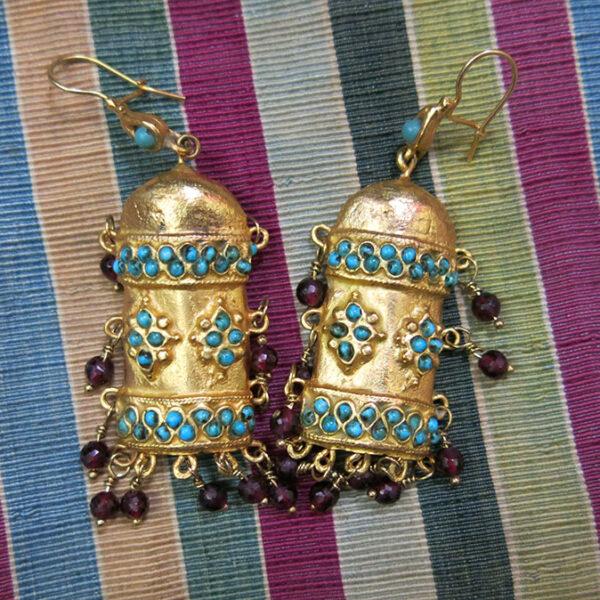 UZBEKISTAN KHOREZM KHIVA ethnic bronze earrings