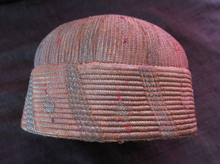 AFGHANISTAN – KHYBER PASS Tribal fine metallic embroidered ethnic hat
