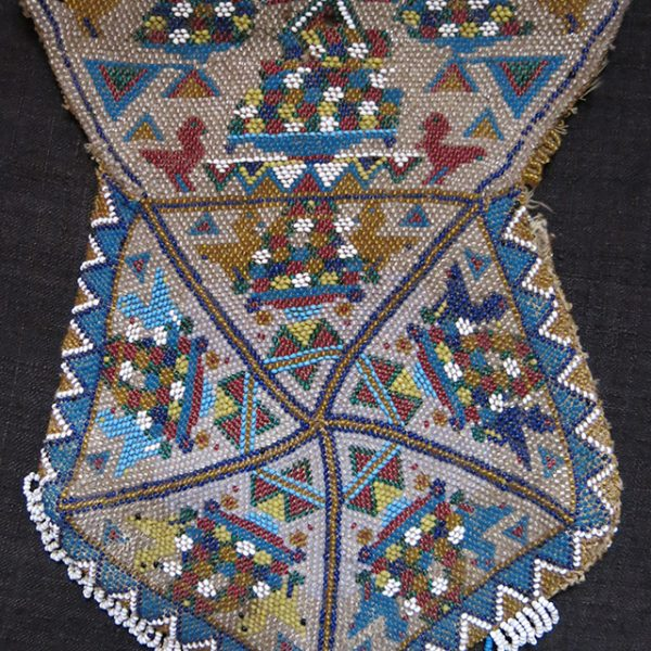 TURKEY BERGAMA - Glass beaded pouch