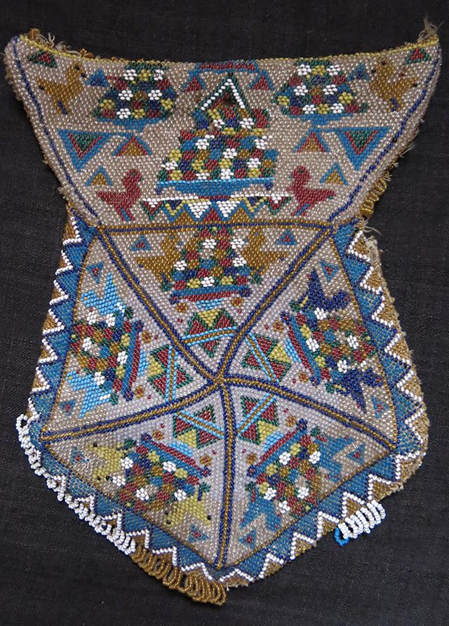 TURKEY BERGAMA - Glass beaded pouch