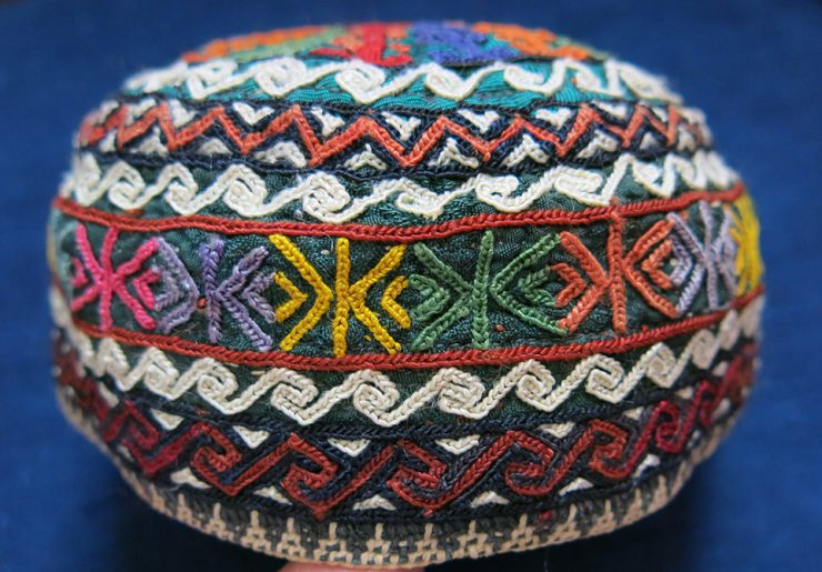 TURKMENISTAN Yomud Turkmen Tribe ethnic child hat – skullcap