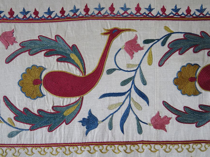 UZBEKISTAN – FARGANA VALLEY Silk embroidery Suzani table cover