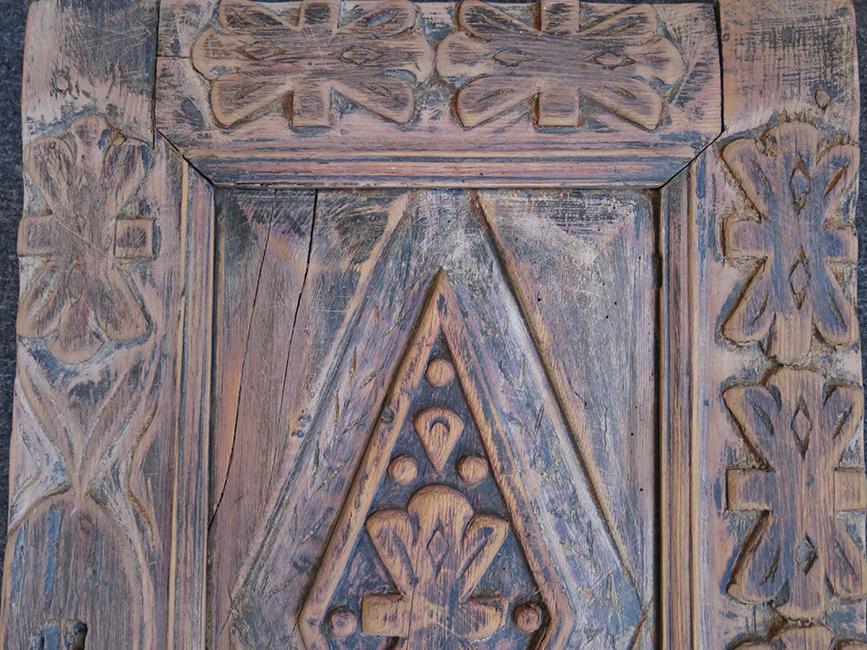 TURKEY - ANTALYA Turkmen hand carved wooden cupboard door