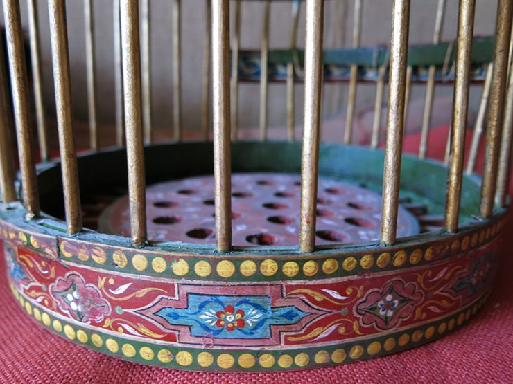 ISTANBUL OTTOMAN Handmade and painted bird cage