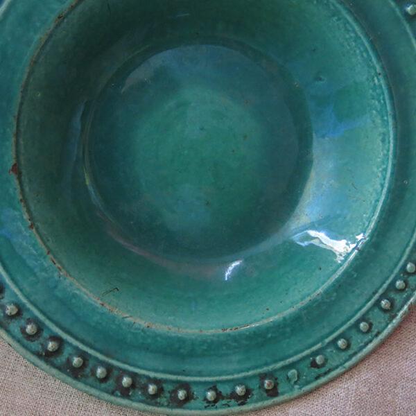 EASTERN CAUCASUS DAGESTAN glazed ceramic plate