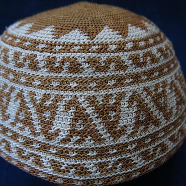 CAUCASUS - AZERBAIJAN - KURDISH SILK hand knitted ethnic hat