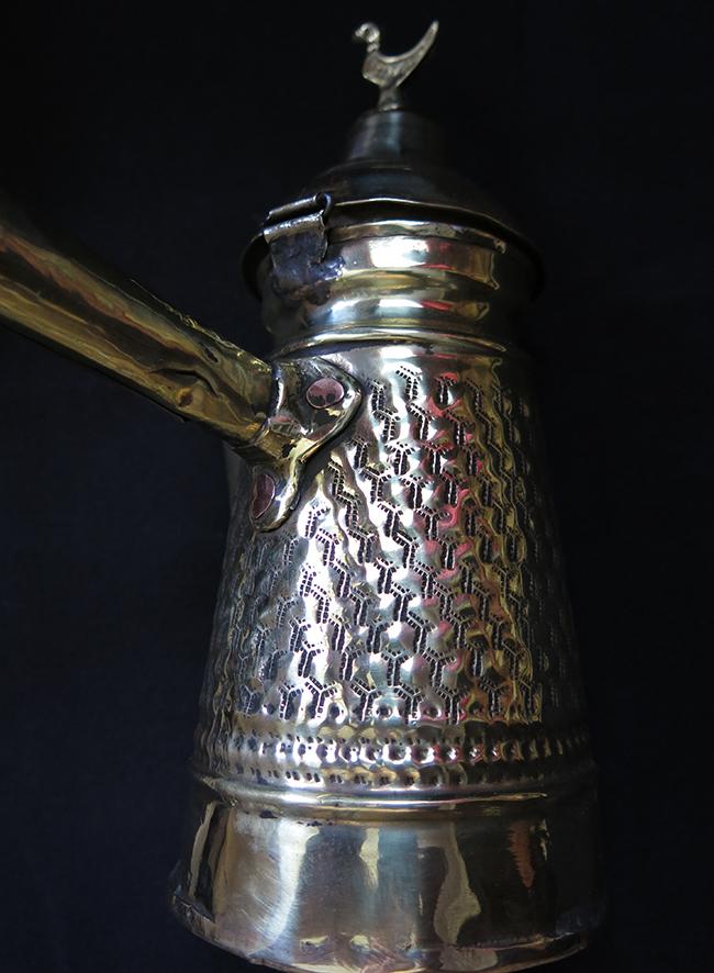 SYRIAN ALEPPO Handmade brass Coffee pot