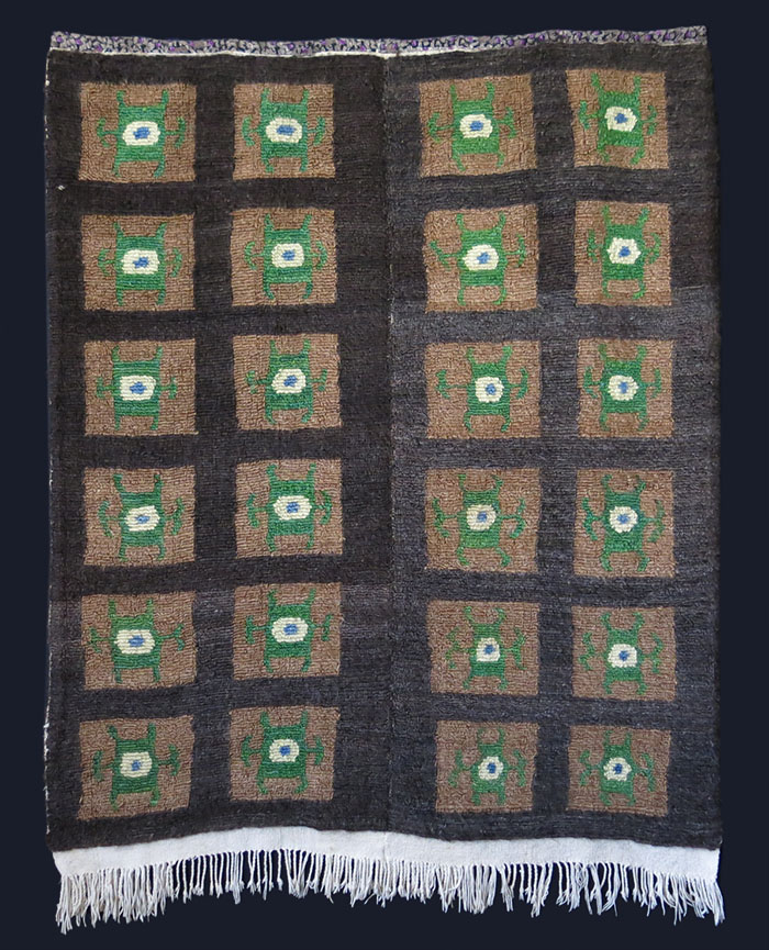TURKEY ANATOLIAN Turkmen tribal loop knotted rug