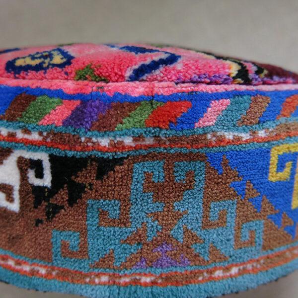 AFGHANISTAN – TURKMEN hand woven tribal pile hat