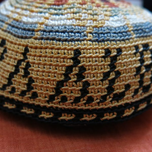LEBANON tribal hand knitted ethnic silk hat