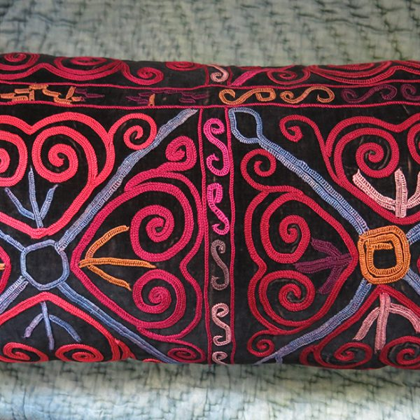 CENTRAL ASIA - KYRGYZSTAN silk embroidery VELVET pillow cover