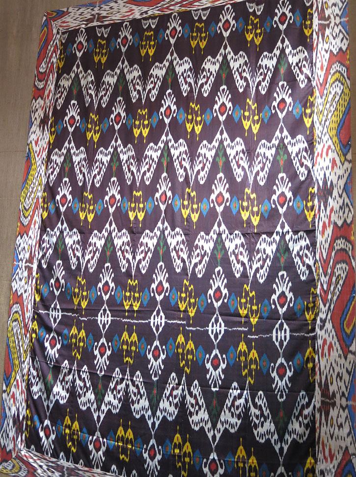 UZBEKISTAN - FARGAN VALLEY - Silk Ikat Bed cover