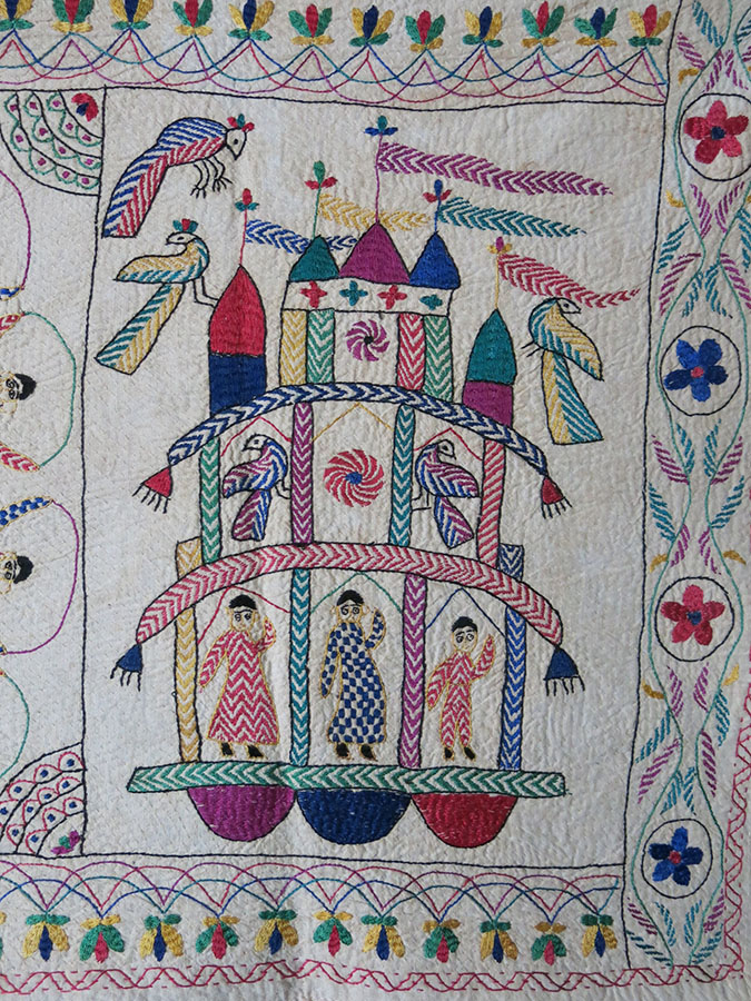 INDIA – WEST BENGAL Kantha embroidery