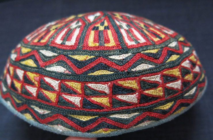 TURKMENISTAN ERSARY tribal hat from North Afghanistan