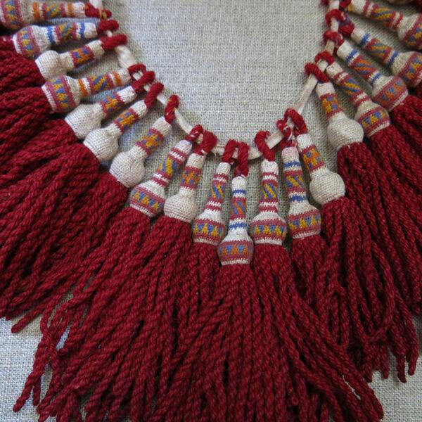 ALBANIA HAND knitted WOOL DERVISH TASSELS