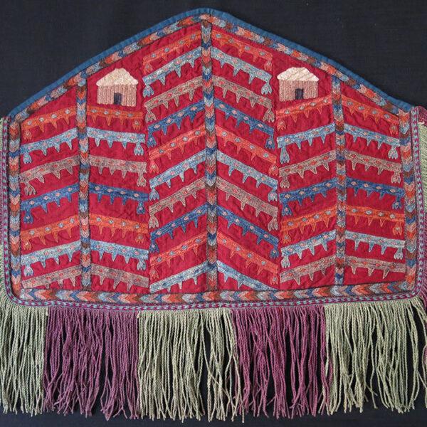 TURKMENISTAN - MARY / MERV silk embroidery small ASMALYK