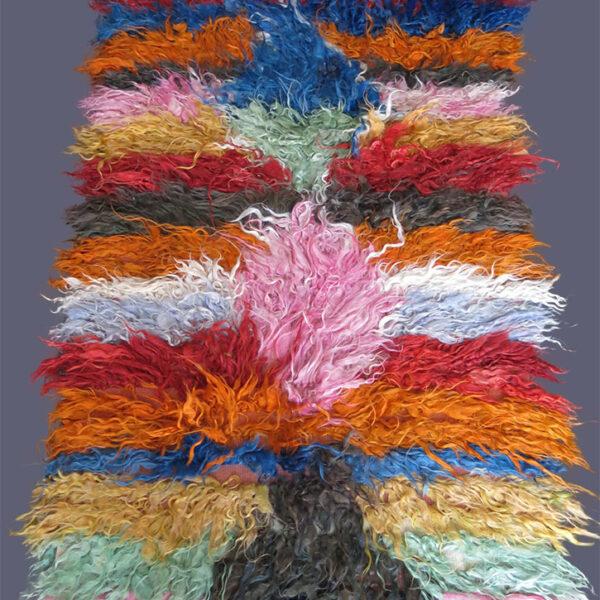 TURKEY - KONYA - Tribal shaggy TULU ANGORA rug