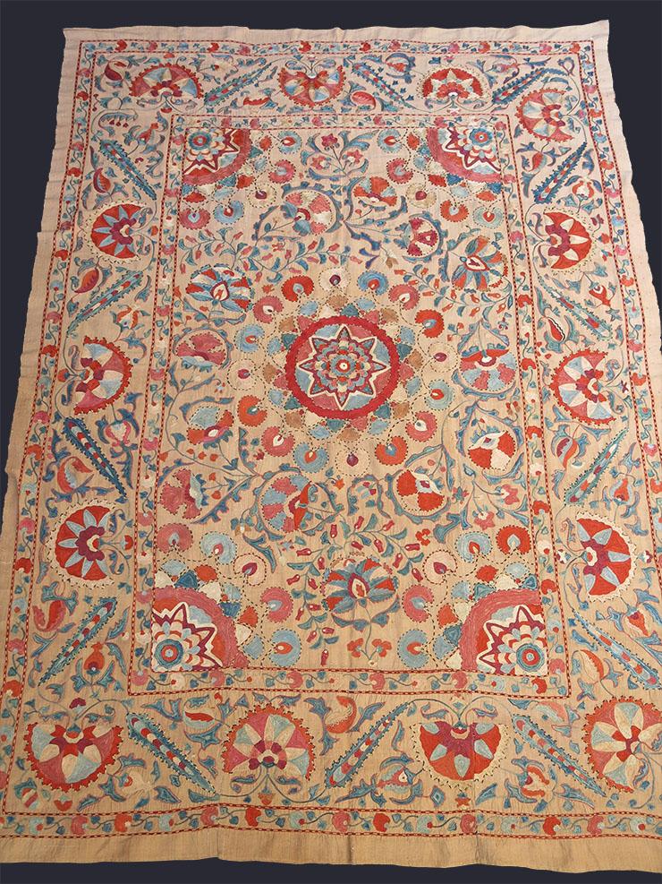 UZBEKISTAN BOKHARA silk suzani embroidery