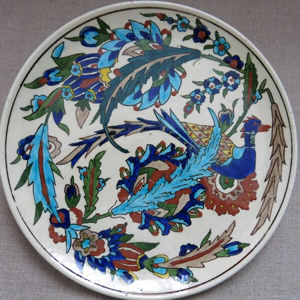 ANATOLIAN – TURKISH KUTAHYA Classical Ottoman design plate