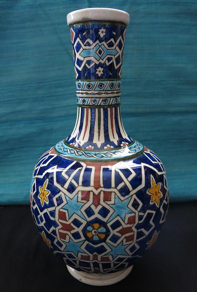 ANATOLIAN – TURKISH KUTAHYA Classical Ottoman design glazed ceramic water pitcher