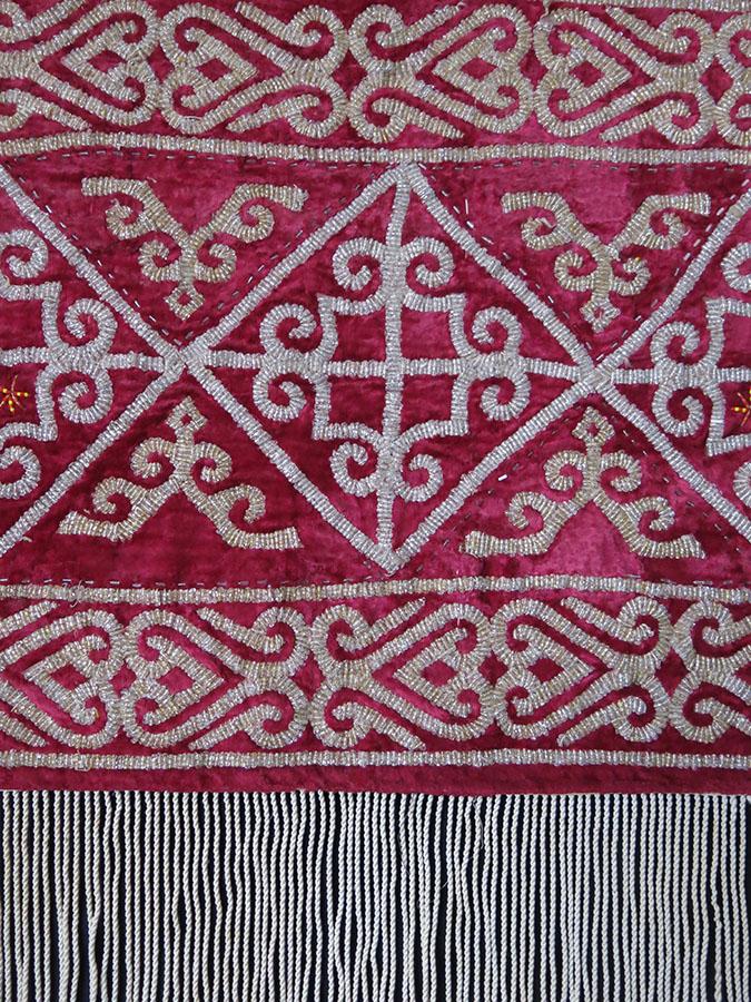 KAZAKHSTAN - Ethnic glass beaded yurt - wall hanging