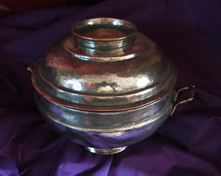ANATOLIAN – TOKAT Ottoman mini hand forged metal tinned copper bowl