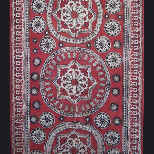 UZBEKISTAN – TASHKENT natural dye block Print cotton textile