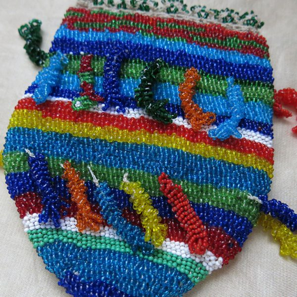 ANATOLIAN - TURKEY DIYARBAKIR KURDISH beaded pouch