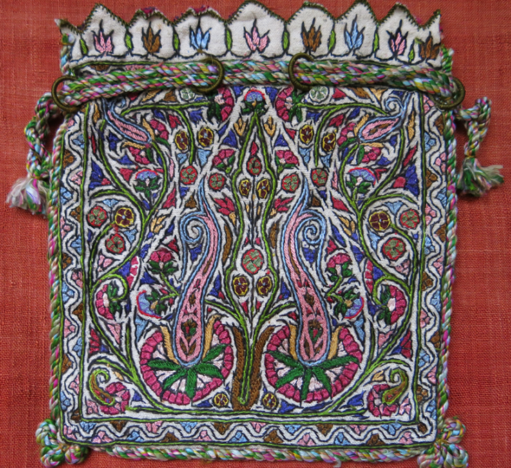 PERSIA ISFAHAN - Silk embroidered pouch