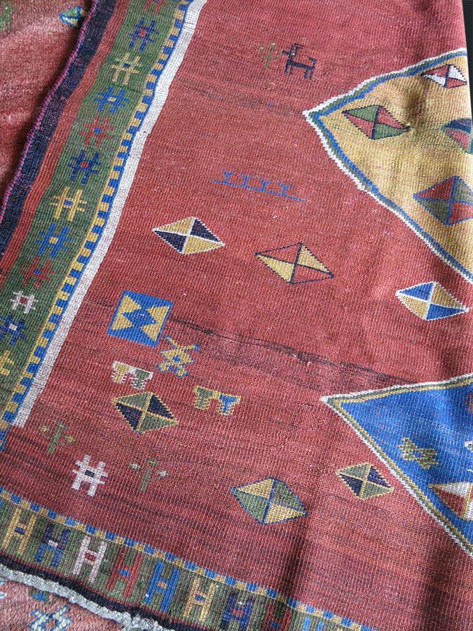 QASHKAI GABBEH tribal square rug