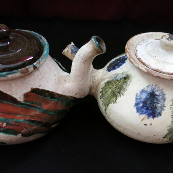 ANATOLIA - GALLIPOLI - TROY CANAKKALE clay handmade teapots