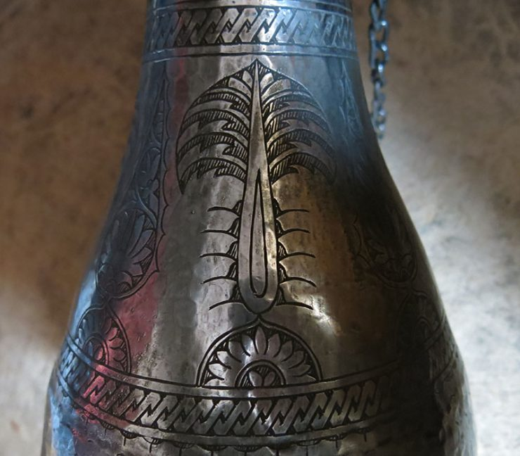 SOUTH EAST TURKEY hand forged antique copper butter container