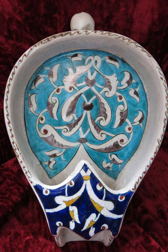 WESTERN TURKEY - KUTAHYA – Glazed ceramic coffee seeds cooler