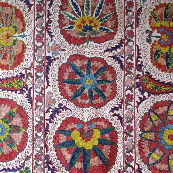 UZBEKISTAN TASHKENT Silk embroidery SUZANI