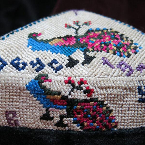 UZBEKISTAN FARGANA VALLEY ethnic skullcap / hat